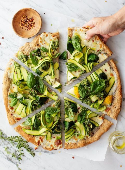 patty pan squash herb garden zucchini pizza