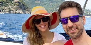 Pau Gasol y su mujer Cat en su luna de miel