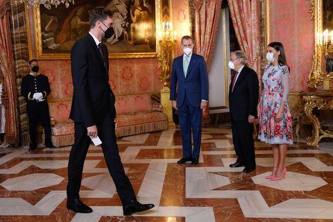 el almuerzo de los reyes con el secretario general de la onu al que ha asistido pau gasol, pau gasol, reina letizia, rey felipe, antónio guterres