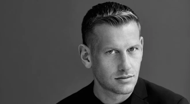 paul andrew creative director of womenswear and menswear at salvatore ferragamo black and white portrait of the shoe designer who is stepping down after the italian fashion brand pre spring 2022 collection in may 2021