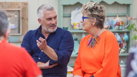 Paul Hollywood and Prue Leith on 2018Bake Off