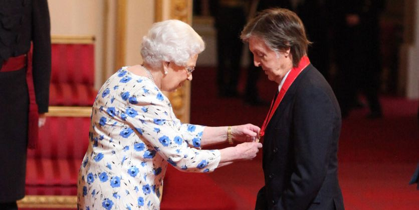 Queen Elizabeth Paul McCartney