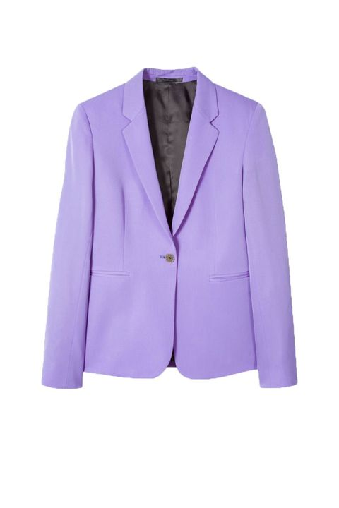 best trouser suit - lilac suit