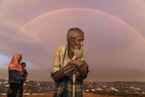 crisiRohingya, arcobaleno, campo profughi