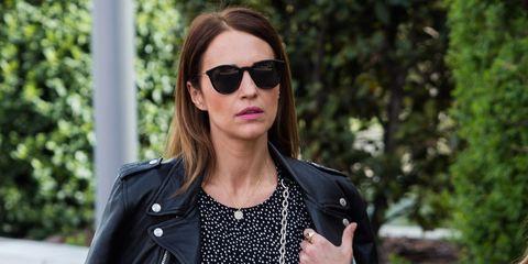 Leather, Clothing, Street fashion, Leather jacket, Jacket, Black, Fashion, Eyewear, Sunglasses, Snapshot,