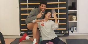 Paula Echevarría y Miguel Torres pasan la cuarentena entrenando