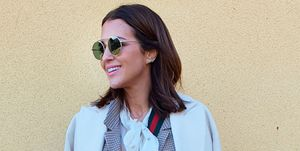 Paula Echevarría, con abrigo blanco de Primark X Dulceida