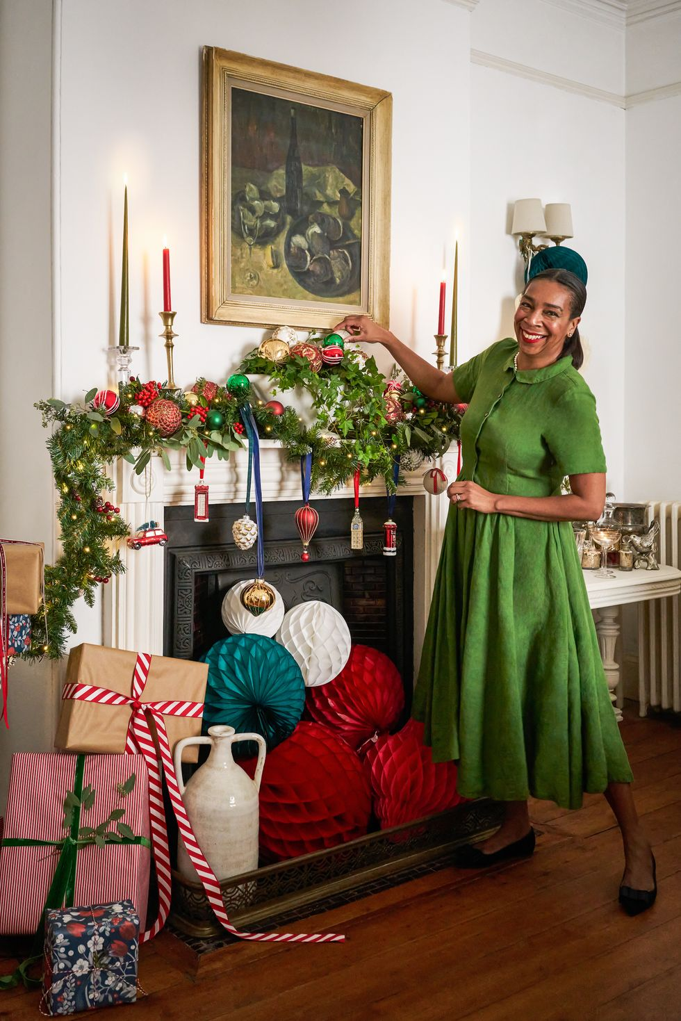 Paula Sutton of @HillHouseVintage unveils cottagecore-inspired Christmas home makeover