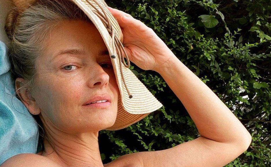 Paulina Porizkova, 55, Posts New No-Makeup, Topless Photo To Instagram