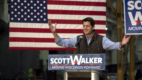 Gubernatorial Candidate Scott Walker Hots GOTV Rally On Eve Of Midterm Election