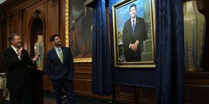 Paul Ryan Attends Portrait Unveiling From His Time As House Budget Cmte Chair