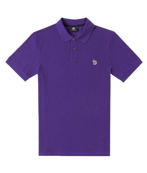 Clothing, T-shirt, Purple, Violet, Polo shirt, Sleeve, Active shirt, Collar, Lilac, Top,