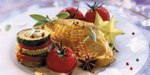Menú Nochebuena: Pavo asado con brochetas de verduras