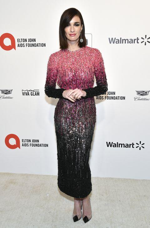 Paz Vega, con vestido de Georges Hobeika en la fiesta de Elton John tras los Oscar 2020