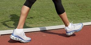 Legs Feet Walking on a Track with 300x150