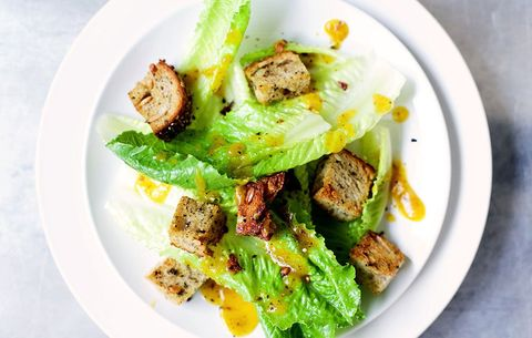 Pumpkin Caesar Salad With Sage Sourdough Croutons