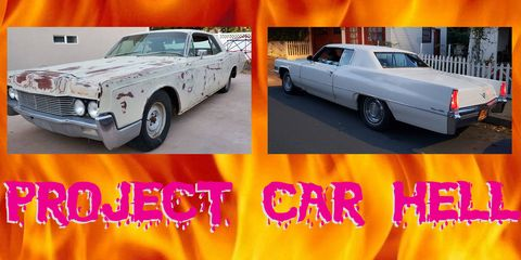 Project Car Hell, 1966 Lincoln Continental vs 1969 Cadillac Coupe DeVille