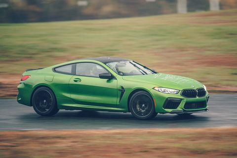 bmw m8 competition at road  track's performance car of the year tests