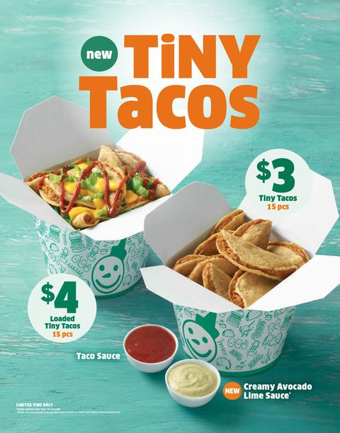 Jack In The Box Is Testing Tiny Tacos Served With Avocado Sauce