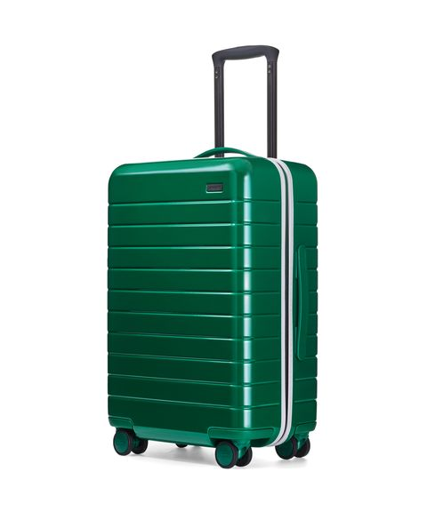 Suitcase, Hand luggage, Baggage, Bag, Luggage and bags, Turquoise, Rolling, Travel,