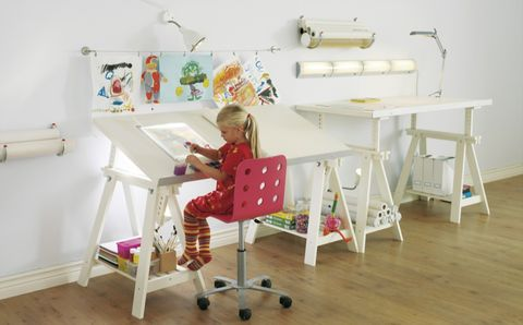Furniture, Room, Table, Chair, Desk, Interior design, Play, Toy,