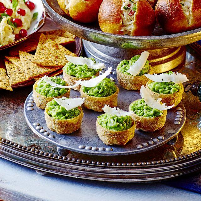 pea and mint croustades
