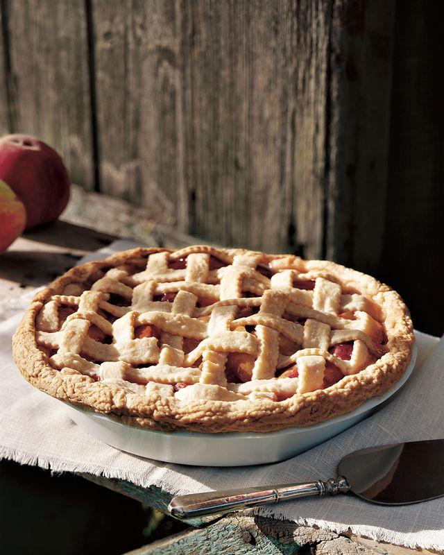 peach almond lattice pie