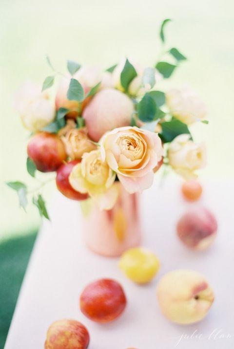 peach centerpiece diy wedding centerpieces