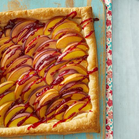peach melba tart