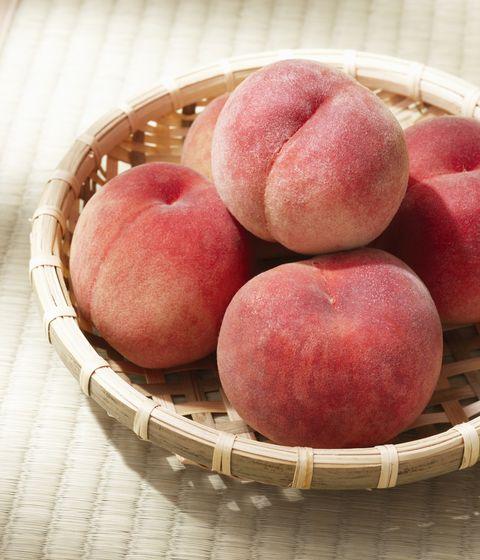peach in basket