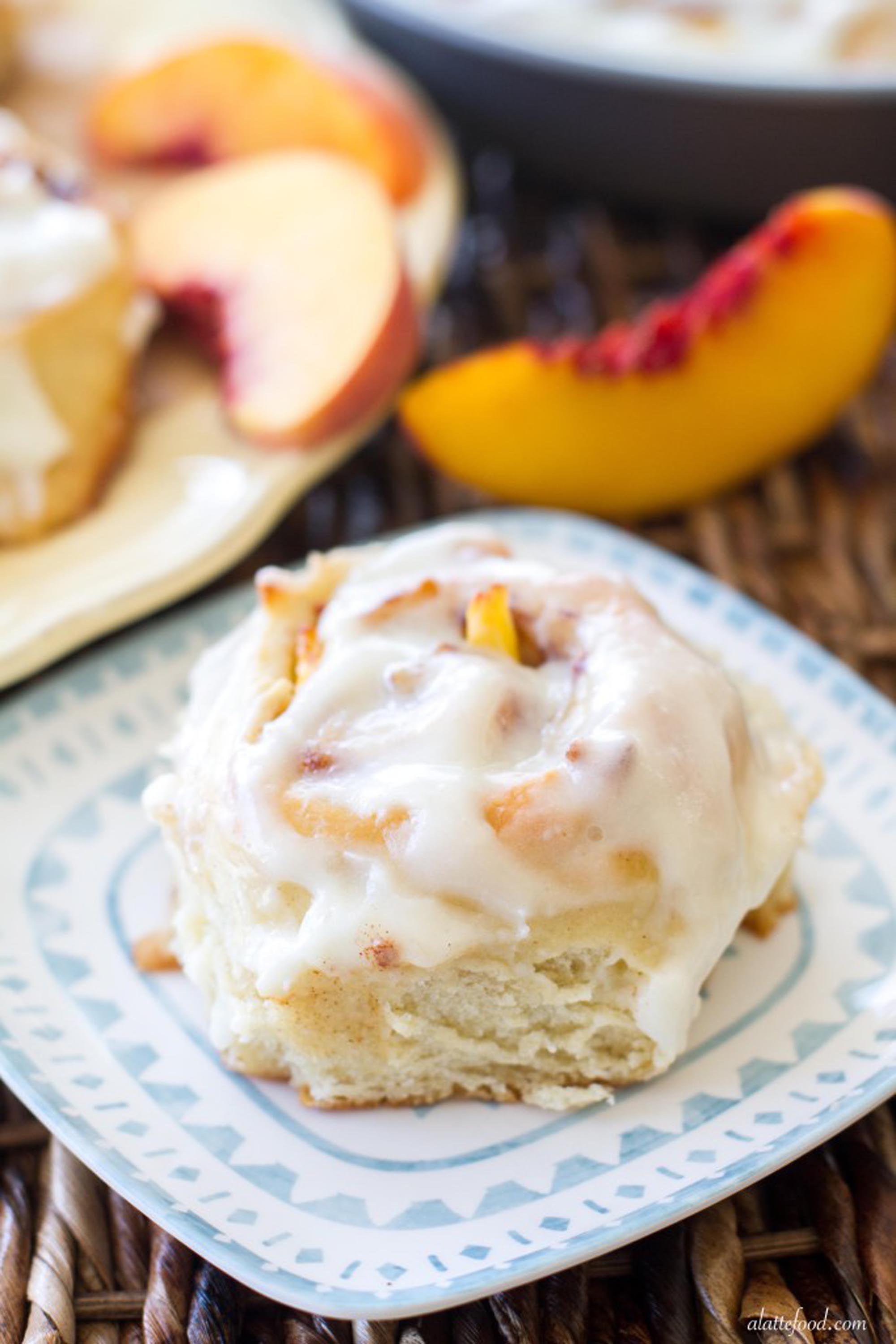 peach recipes rolls