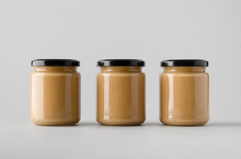 Peanut / Almond / Nut Butter Jar Mock-Up - Three Jars