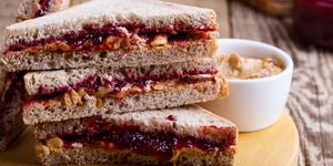 Running fuel before a race: Peanut butter and jelly sandwich