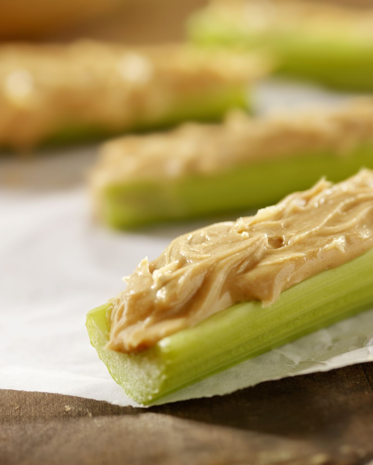 Peanut Butter on Sticks of Celery