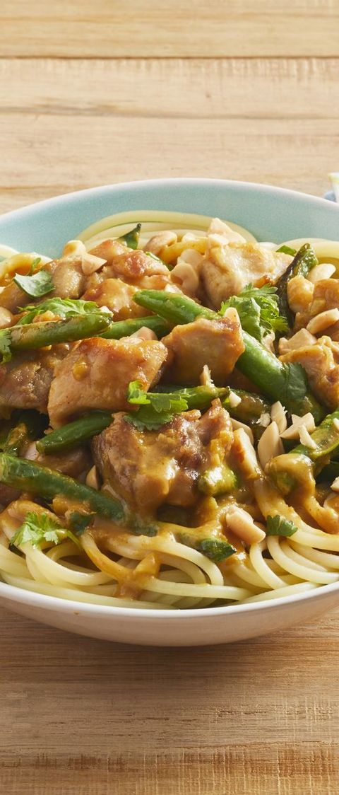 peanut chicken with green beans