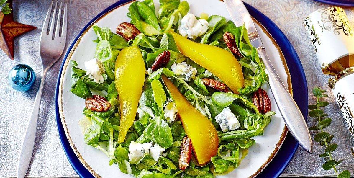 Pear, Candied Pecan and Blue Cheese Salad Recipe