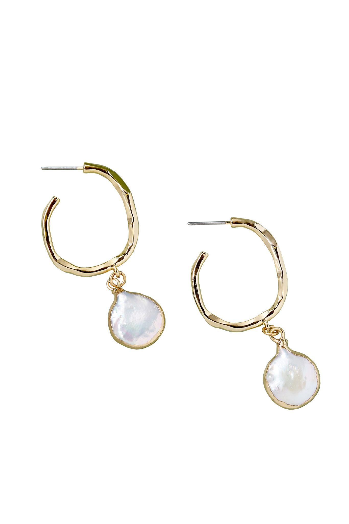 Pearl drop earrings Anthropologie