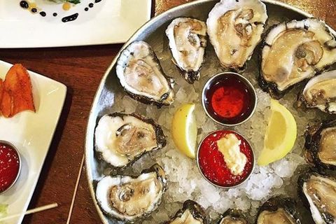 Dish, Food, Cuisine, Oyster, Seafood, Ingredient, Oysters rockefeller, Bivalve, Brunch, Meal,