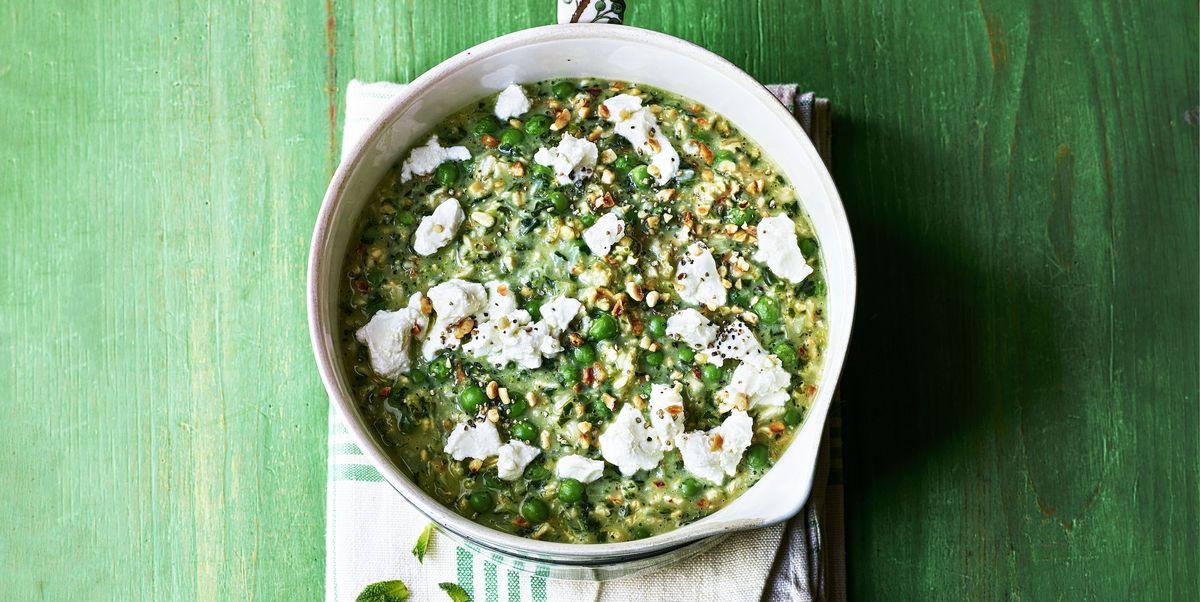 Pea and Spinach Porridge Recipe