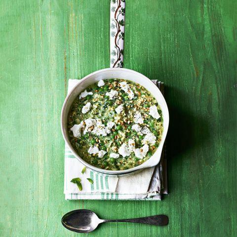 Pea and Spinach Porridge