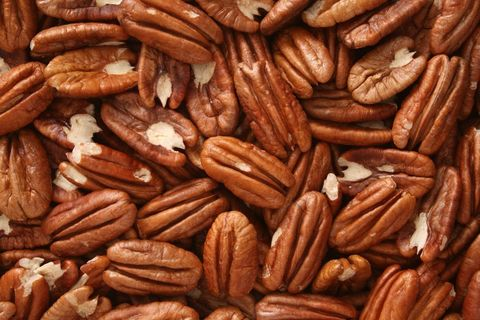 Pecan nuts background
