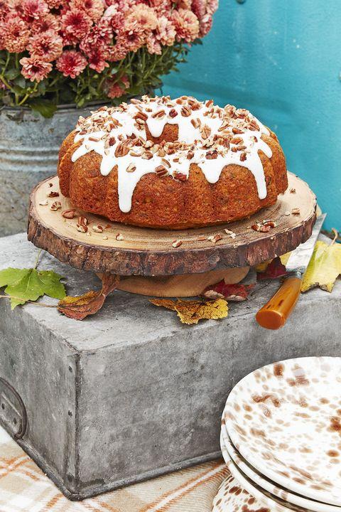 pecan pumpkin bundt cake with cream cheese glaze recipe