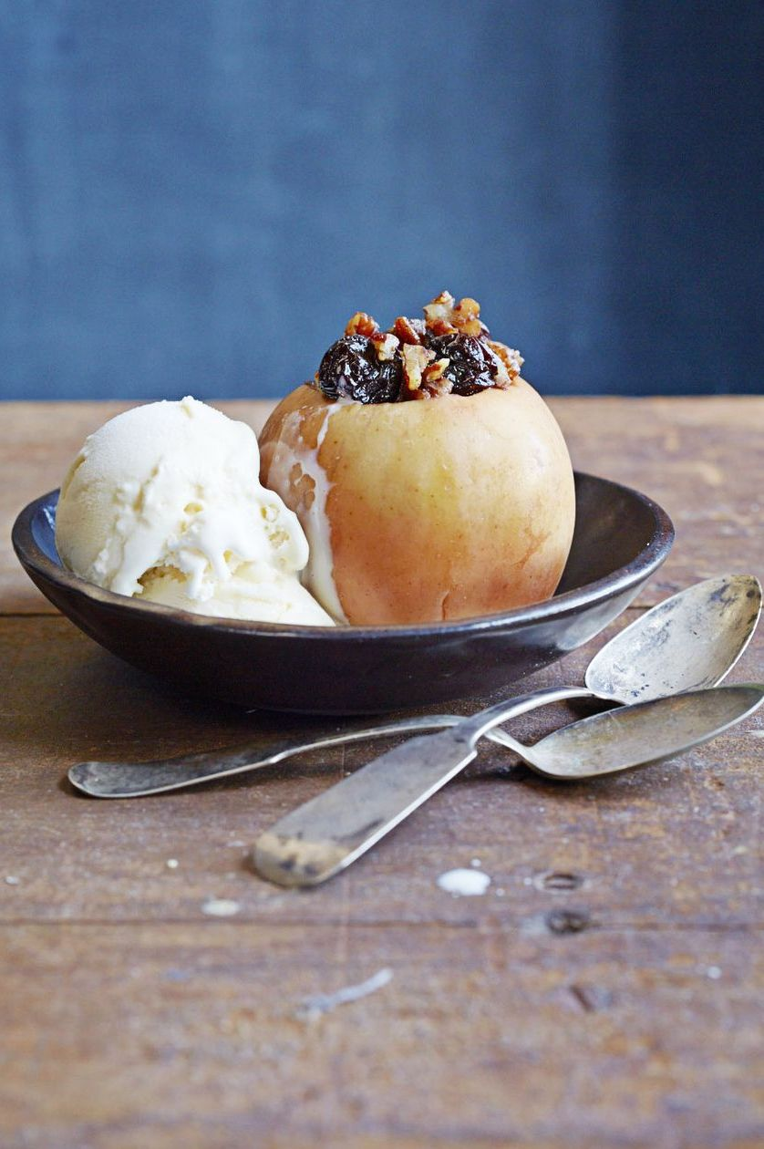 "Pecan-Stuffed ""Baked"" Apples - Dessert"