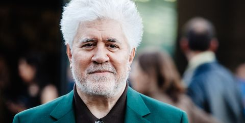 """milan, italy   may 31 spanish filmmaker, director, screenwriter, producer, and former actor pedro almodovar attends the presentation of the """"soggettiva pedro almodóvar"""" at fondazione prada on may 31, 2019 in milan, italy  photo by rosdiana ciaravologetty images"""