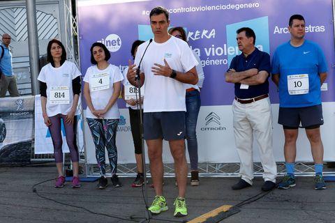 Pedro Sánchez se apunta al running contra la violencia de género