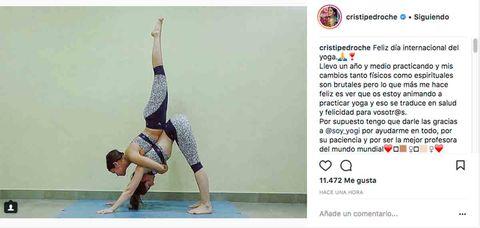 Las  compi yoguis  más famosas - Cristina Pedroche 8107ccab0088
