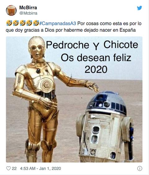 Meme vestido Cristina Pedroche campanadas 2019