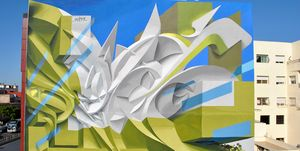 Las pinturas tridimensionales de Peeta se trasladan a las fachadas
