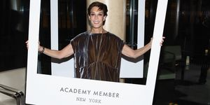 Peggy Siegal, 2015, at a reception for new members of the Academy Of Motion Picture Arts And Sciences at Lincoln Ristorante in New York, 2015.
