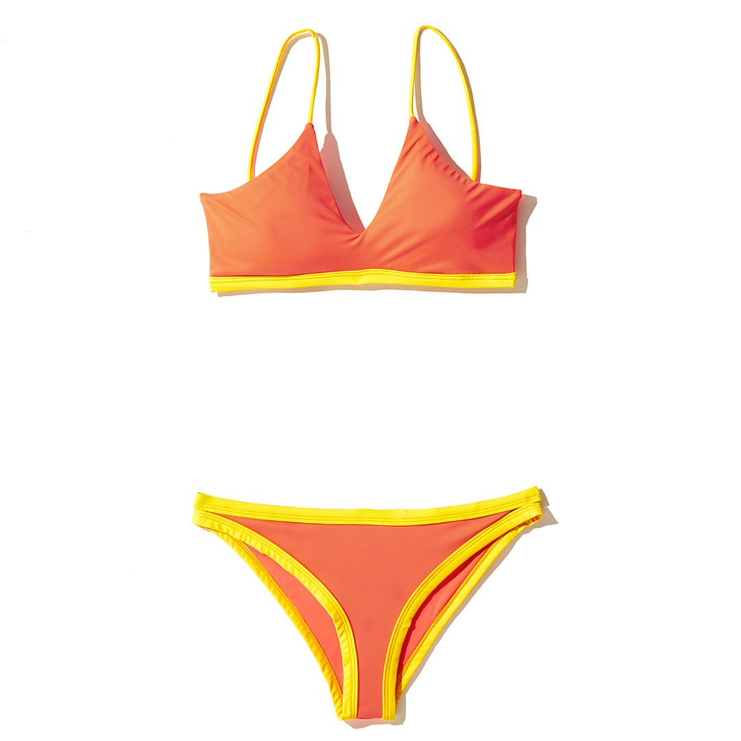 Pexioto swimsuit top and bottom bikini swimsuit